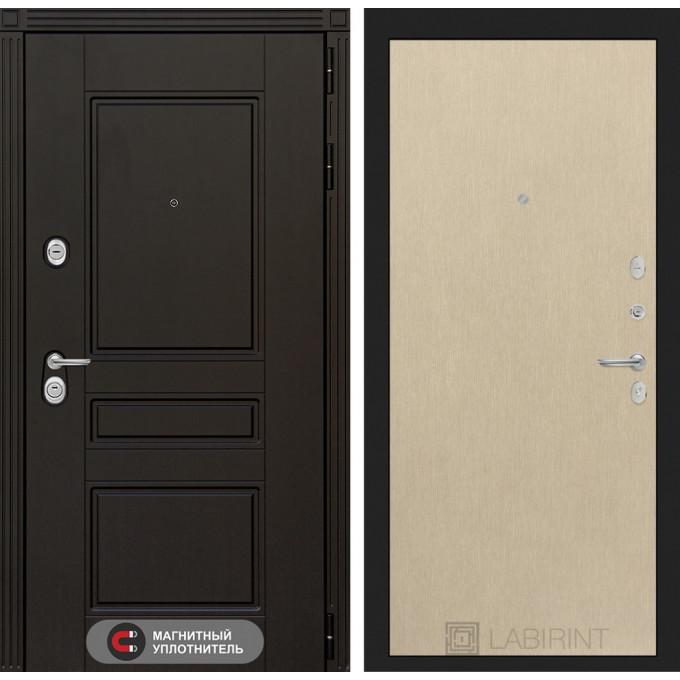 Стальная дверь Лабиринт Мегаполис 05 (Беленый дуб)