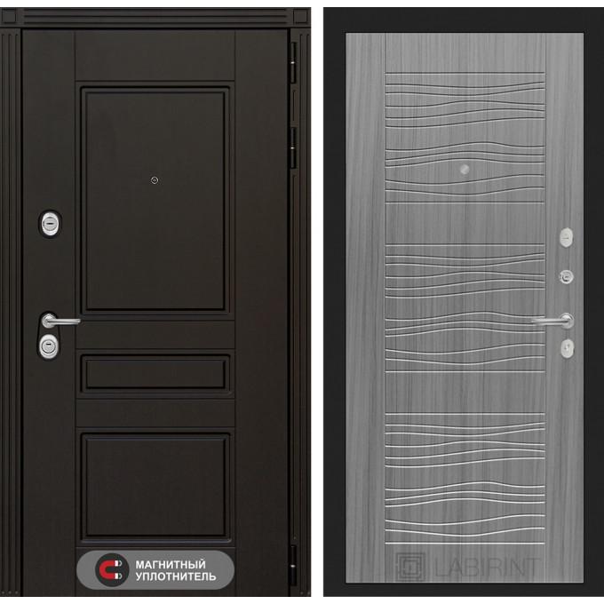 Стальная дверь Лабиринт Мегаполис 06 (Сандал серый)