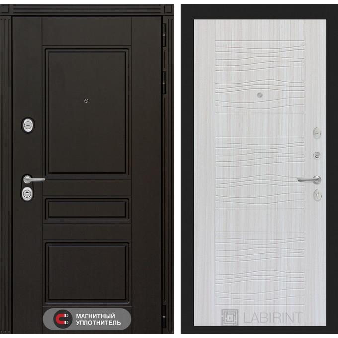 Стальная дверь Лабиринт Мегаполис 06 (Сандал белый)