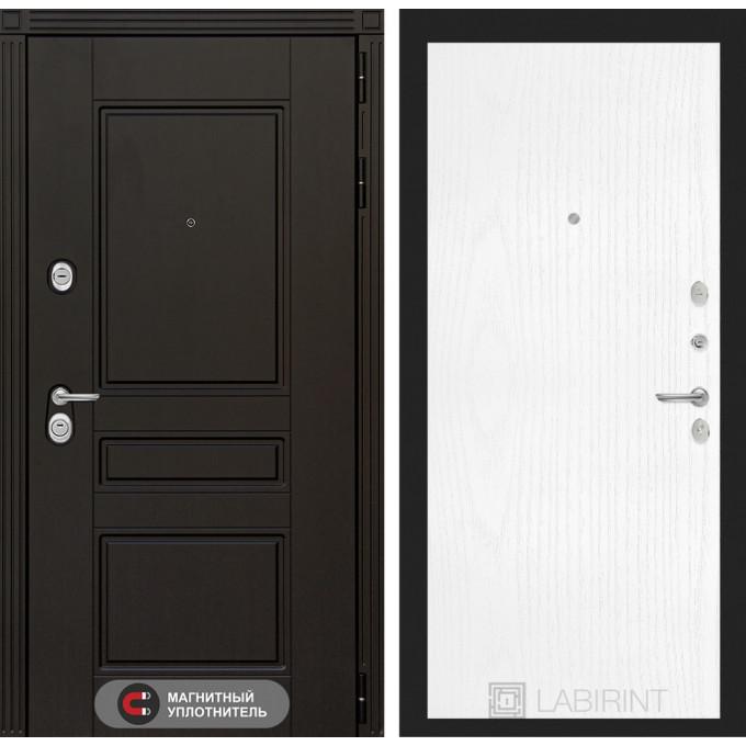 Стальная дверь Лабиринт Мегаполис 07 (Белое дерево)