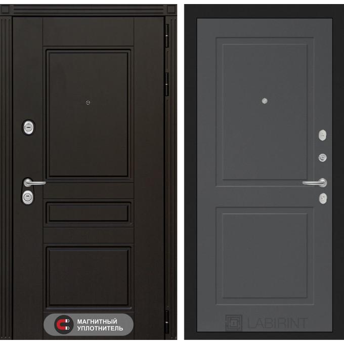 Стальная дверь Лабиринт Мегаполис 11 (Графит софт)