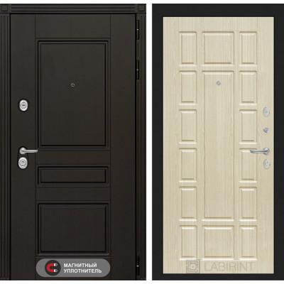 Стальная дверь Лабиринт Мегаполис 12 (Беленый дуб)