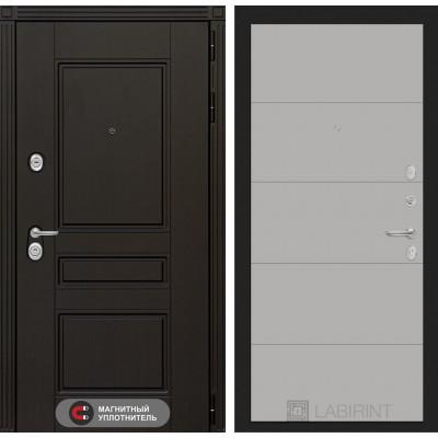 Стальная дверь Лабиринт Мегаполис 13 (Грей софт)