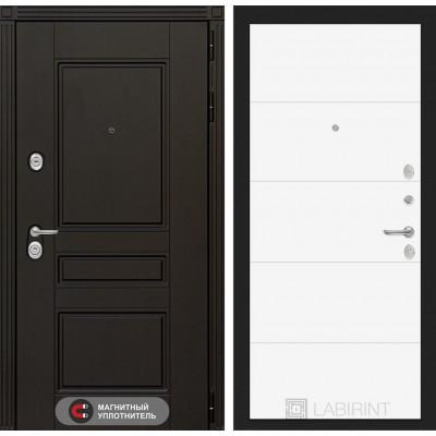 Стальная дверь Лабиринт Мегаполис 13 (Белый софт)