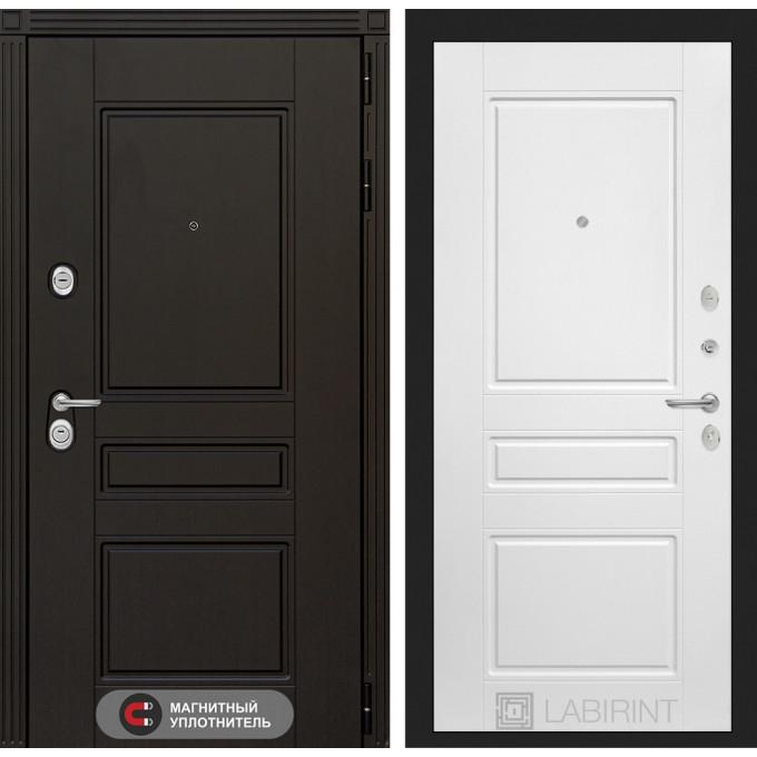 Стальная дверь Лабиринт Мегаполис 03 (Белый софт)