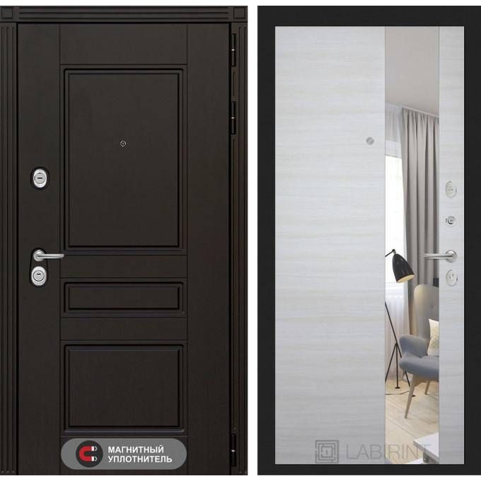 Стальная дверь Лабиринт Мегаполис с зеркалом (Акация)