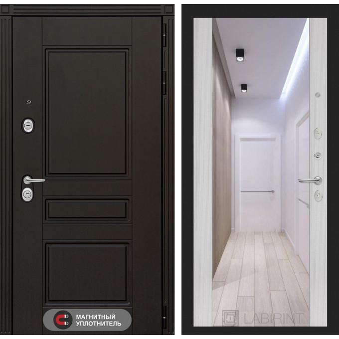 Стальная дверь Лабиринт Мегаполис Максимум (Сандал белый)
