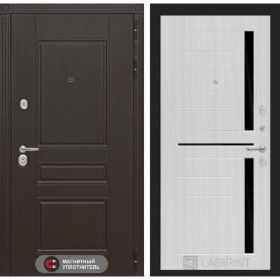 Стальная дверь Лабиринт Мегаполис 02 (Сандал белый)