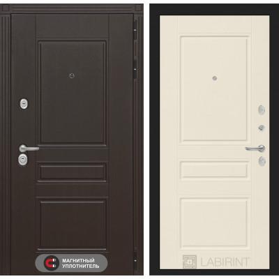 Стальная дверь Лабиринт Мегаполис 03 (Крем софт)