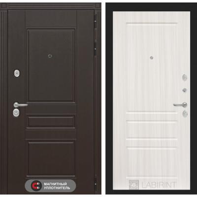 Стальная дверь Лабиринт Мегаполис 03 (Сандал белый)