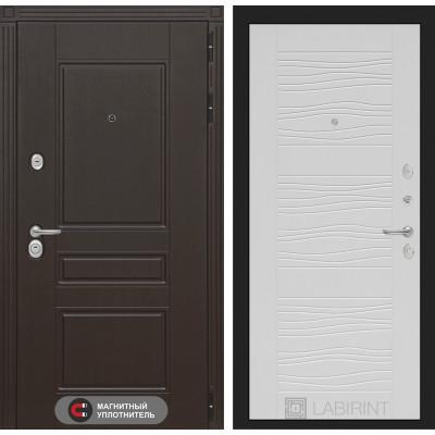 Стальная дверь Лабиринт Мегаполис 06 (Белое дерево)