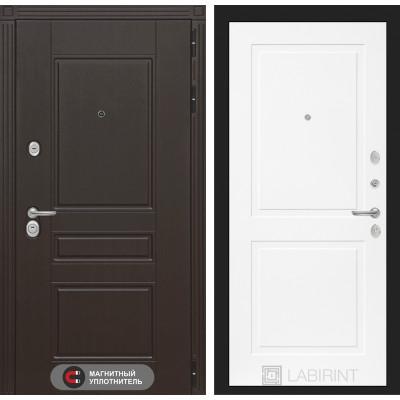 Стальная дверь Лабиринт Мегаполис 11 (Белый софт)