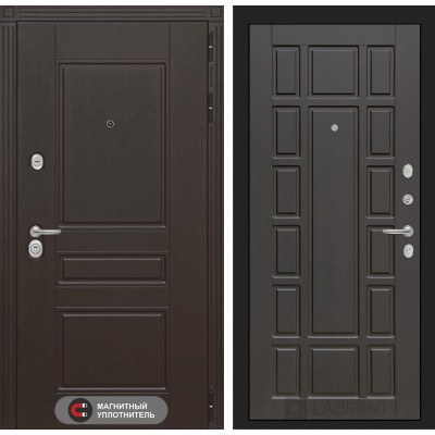 Стальная дверь Лабиринт Мегаполис 12 (Венге)