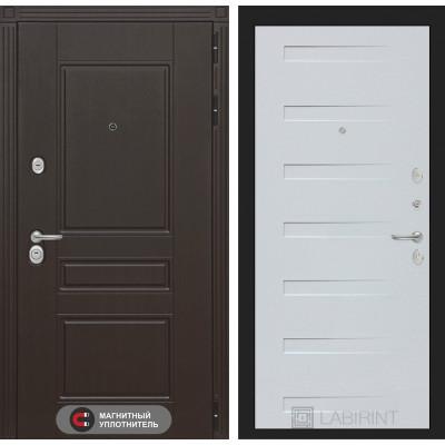 Стальная дверь Лабиринт Мегаполис 14 (Дуб кантри белый)