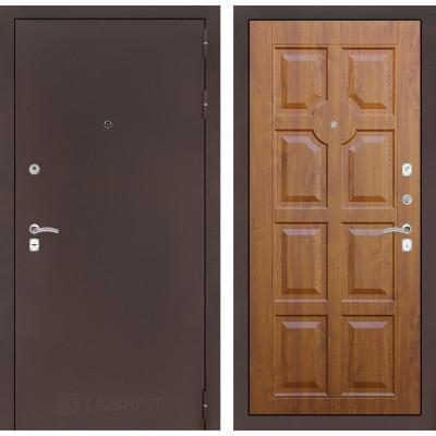 Дверь Лабиринт Classic 17 (Антик медный / Золотой дуб)