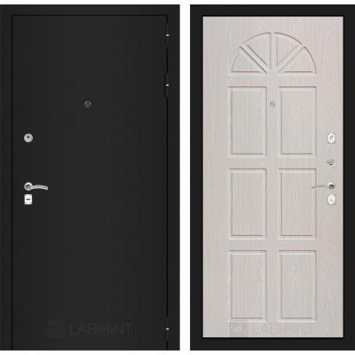 Дверь Лабиринт Classic 15 (Шагрень черная / Алмон 25)