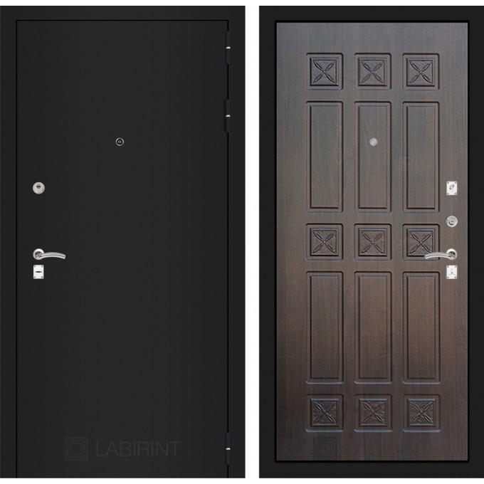 Дверь Лабиринт Classic 16 (Шагрень черная / Алмон 28)