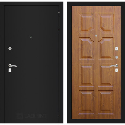 Дверь Лабиринт Classic 17 (Шагрень черная / Золотой дуб)