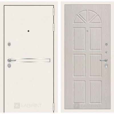 Стальная дверь Лабиринт LINE WHITE 15 (Алмон 25)