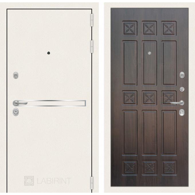 Стальная дверь Лабиринт LINE WHITE 16 (Алмон 28)