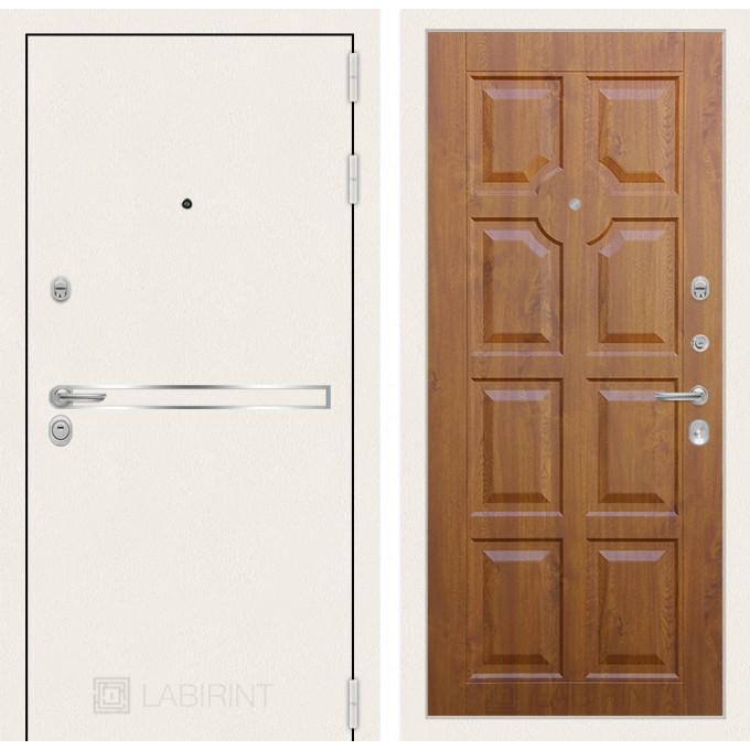 Стальная дверь Лабиринт LINE WHITE 17 (Золотой дуб)