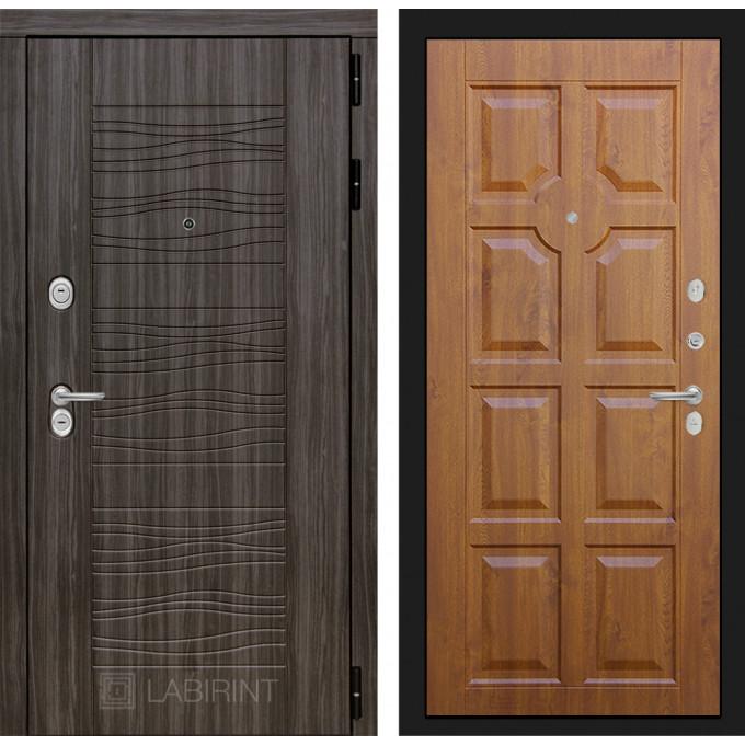 Стальная дверь Лабиринт SCANDI 17 (Золотой дуб)