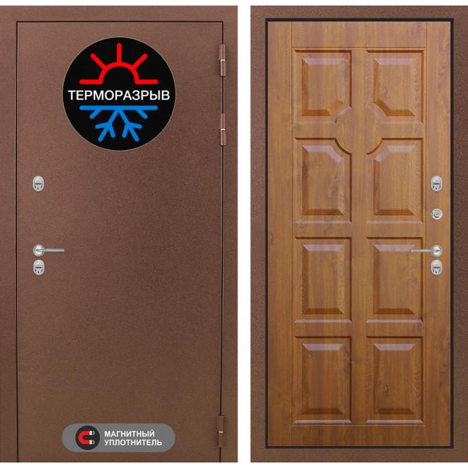 Стальная дверь Лабиринт Термо Магнит 17 (Золотой дуб)