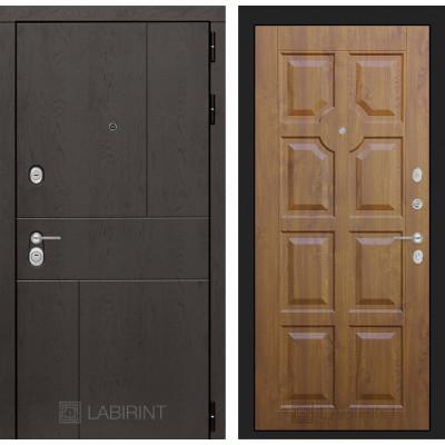 Стальная дверь Лабиринт URBAN 17 (Золотой дуб)