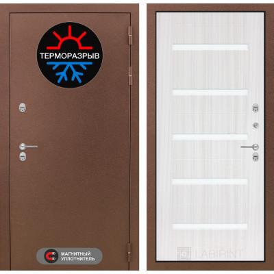 Стальная дверь Лабиринт Термо Магнит 01 (Сандал белый)