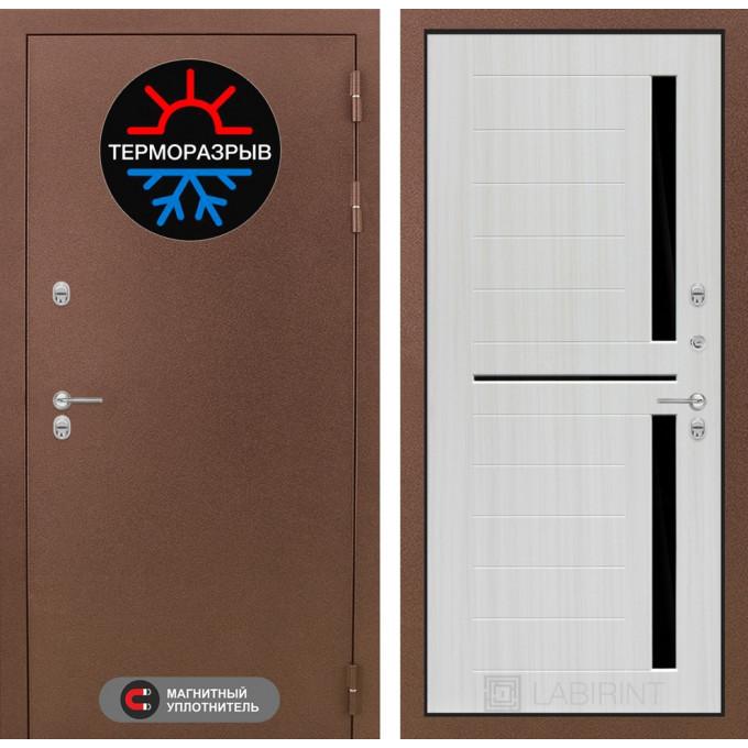 Стальная дверь Лабиринт Термо Магнит 02 (Сандал белый)
