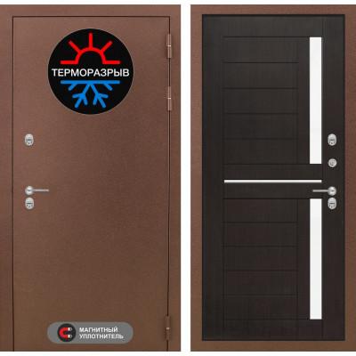 Стальная дверь Лабиринт Термо Магнит 02 (Венге)