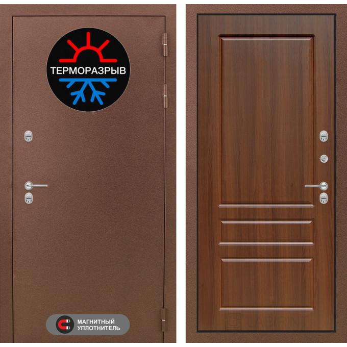 Стальная дверь Лабиринт Термо Магнит 03 (Орех бренди)