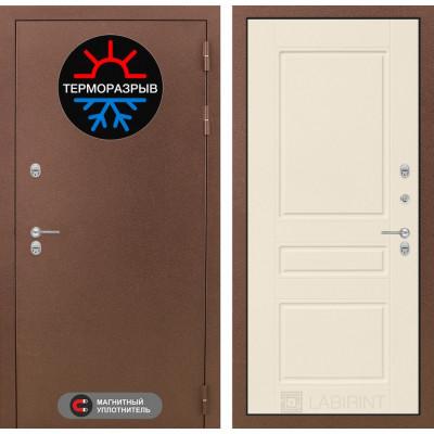Стальная дверь Лабиринт Термо Магнит 03 (Крем софт)