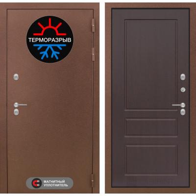 Стальная дверь Лабиринт Термо Магнит 03 (Орех премиум)