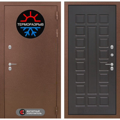 Стальная дверь Лабиринт Термо Магнит 04 (Венге)