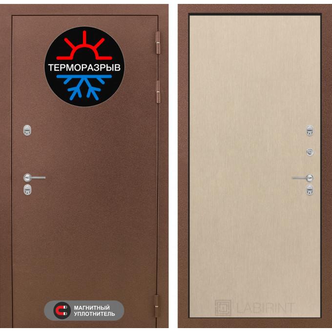 Стальная дверь Лабиринт Термо Магнит 05 (Беленый дуб)