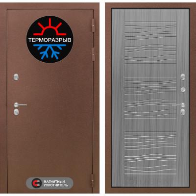 Стальная дверь Лабиринт Термо Магнит 06 (Сандал серый)