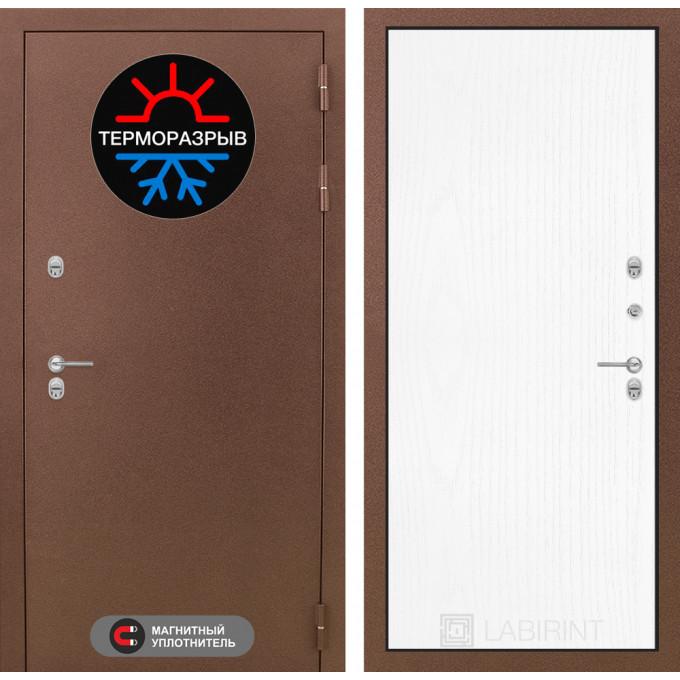 Стальная дверь Лабиринт Термо Магнит 07 (Белое дерево)