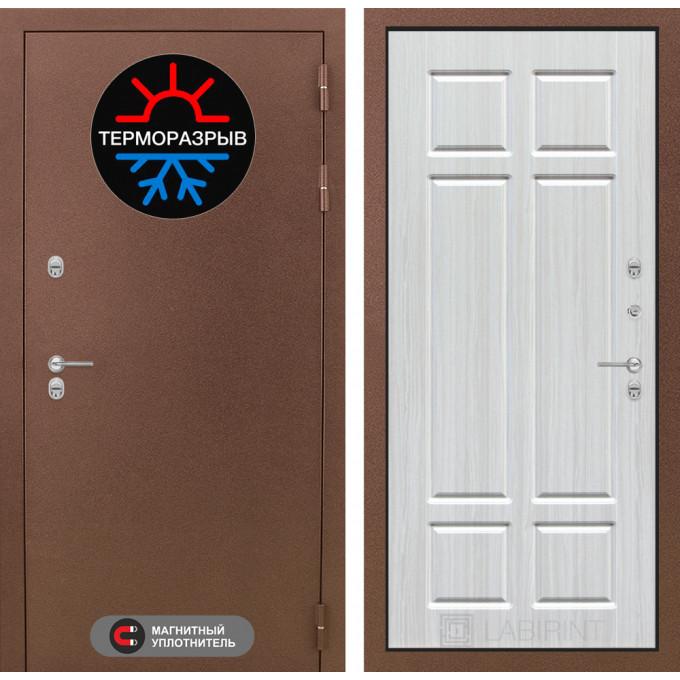 Стальная дверь Лабиринт Термо Магнит 08 (Кристалл вуд)