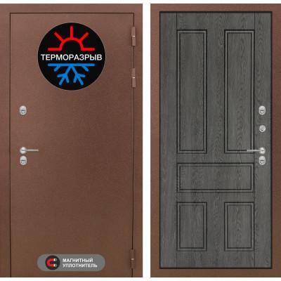 Стальная дверь Лабиринт Термо Магнит 10 (Дуб филадельфия)