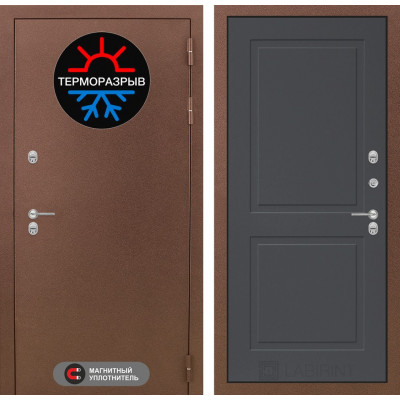 Стальная дверь Лабиринт Термо Магнит 11 (Графит софт)