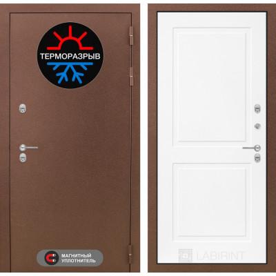 Стальная дверь Лабиринт Термо Магнит 11 (Белый софт)