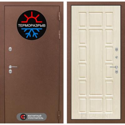 Стальная дверь Лабиринт Термо Магнит 12 (Беленый дуб)