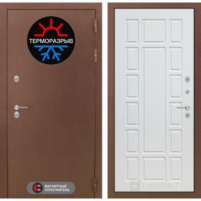 Стальная дверь Лабиринт Термо Магнит 12 (Белое дерево)