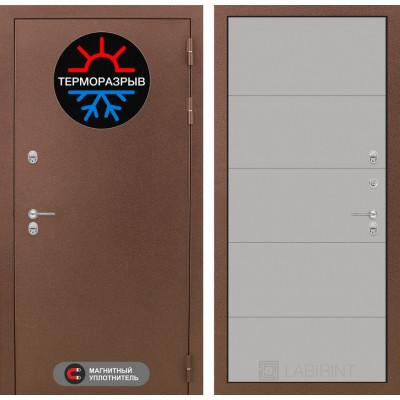 Стальная дверь Лабиринт Термо Магнит 13 (Грей софт)