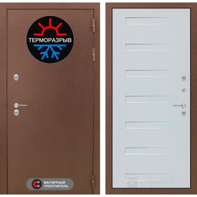 Стальная дверь Лабиринт Термо Магнит 14 (Дуб кантри белый)