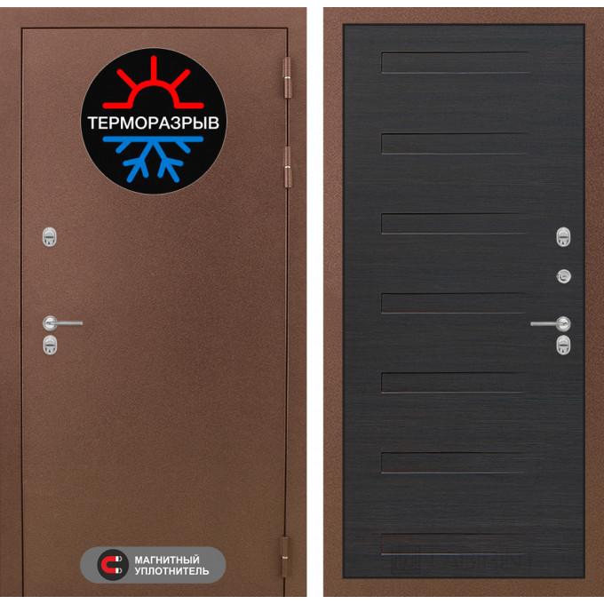 Стальная дверь Лабиринт Термо Магнит 14 (Эковенге)