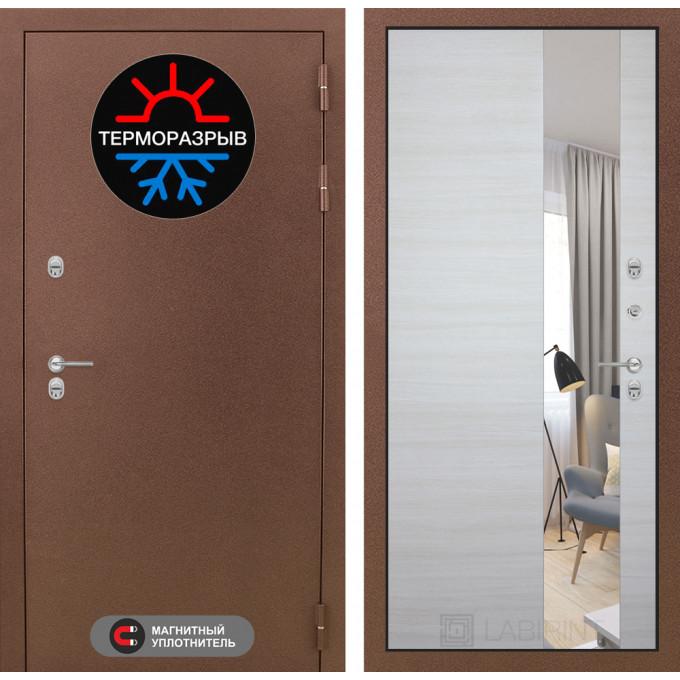 Стальная дверь Лабиринт Термо Магнит с зеркалом (Акация)