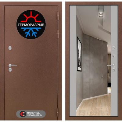 Стальная дверь Лабиринт Термо Магнит Максимум с зеркалом (Грей софт)