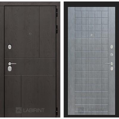 Стальная дверь Лабиринт URBAN 09 (Лен сильвер)